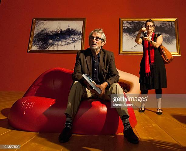 Architect Oscar Tusquets Blanca sits in the 'May West Room' a sculptural installation by himself and Salvador Dali dating 1974 and recreated at...