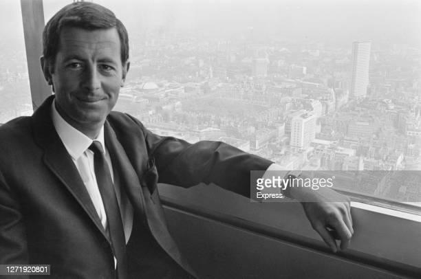 Architect Patrick Garnett in the revolving restaurant of the Post Office Tower which he designed 1966