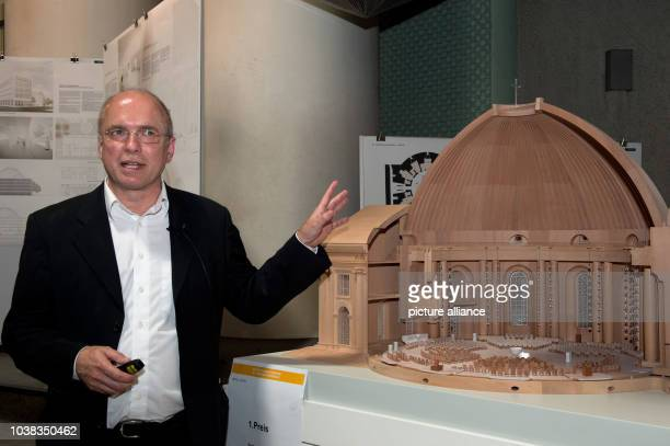 Architect Peter Sichau explains his winning design for the redesign of the interior of St Hedwig's Cathedral in Berlin Germany 01 July 2014 The...