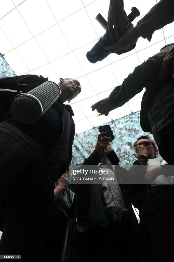 Architect Rem Koolhaas speaks to the press underneath the new inflatable canopy at the Serpentine Gallery & Unveiling of the Serpentine Gallery Pictures | Getty Images
