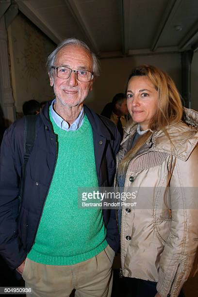 Architect Renzo Piano and his wife Milly attend the 'Jean Nouvel and Claude Parent Musees a venir' Exhibition Opening at Galerie Azzedine Alaïa on...