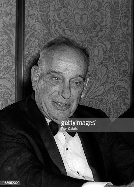 Architect Robert Moses attends Robert F Kennedy Awards Dinner on May 11 1969 at the Americana Hotel in New York City