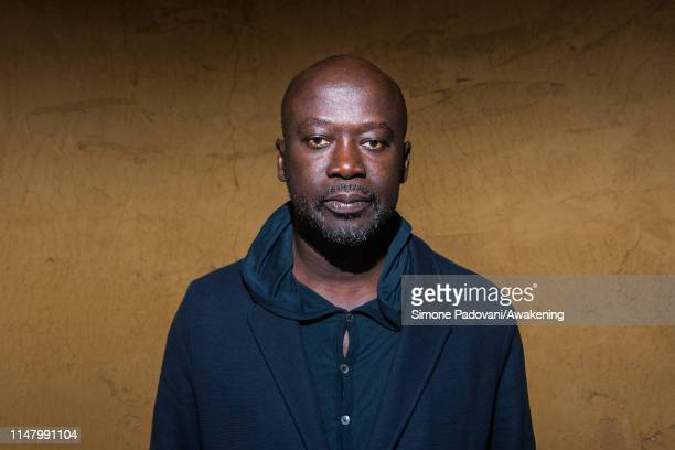 Architect Sir David Adjaye designer of the Ghana pavilion poses for a portrait during the press previews of the 58th International Art Biennale on...