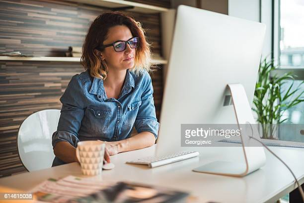 Architect working in an office
