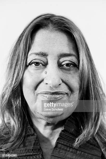 Architect Zaha Hadid is photographed on April 27 2011 in London England
