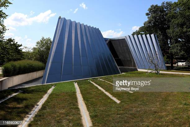 Architect Zaha Hadid's Eli and Edythe Broad Art Museum at Michigan State University in East Lansing, Michigan on July 30, 2019. MANDATORY MENTION OF...