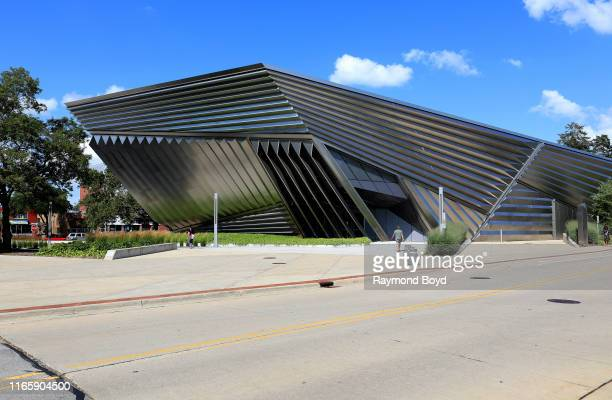 Architect Zaha Hadid's Eli and Edythe Broad Art Museum at Michigan State University in East Lansing Michigan on July 30 2019 MANDATORY MENTION OF THE...