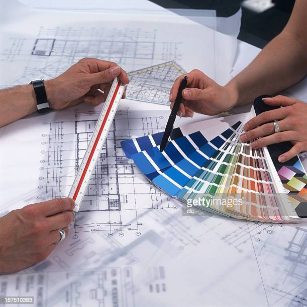 Architects checking the colors