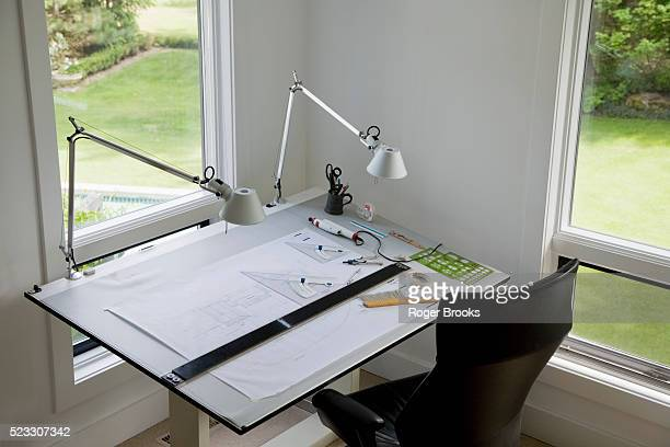 Architect's Drafting Table in Home Office
