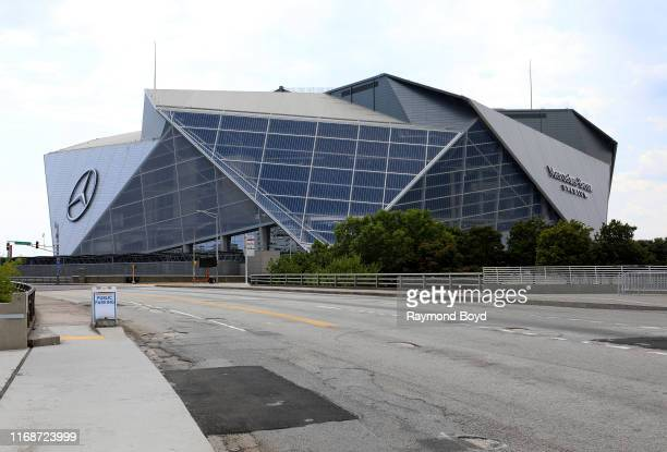 Architects HOK, tvdesign, Goode Van Slyke and Stanley Beaman & Sears' Mercedes-Benz Stadium, home of the Atlanta Falcons football team and Atlanta...