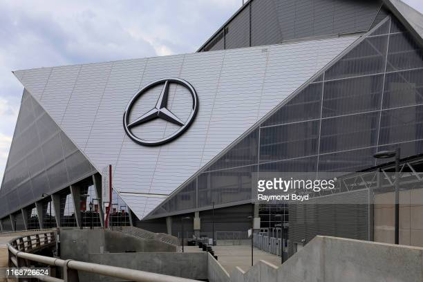 Architects HOK tvdesign Goode Van Slyke and Stanley Beaman Sears' MercedesBenz Stadium home of the Atlanta Falcons football team and Atlanta United...