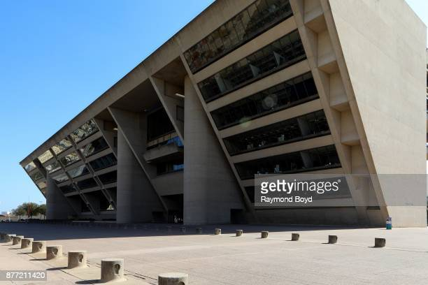 Architects IM Pei and Theodore J Musho's Dallas City Hall in Dallas Texas on November 5 2017 MANDATORY MENTION OF THE ARTIST UPON PUBLICATION...