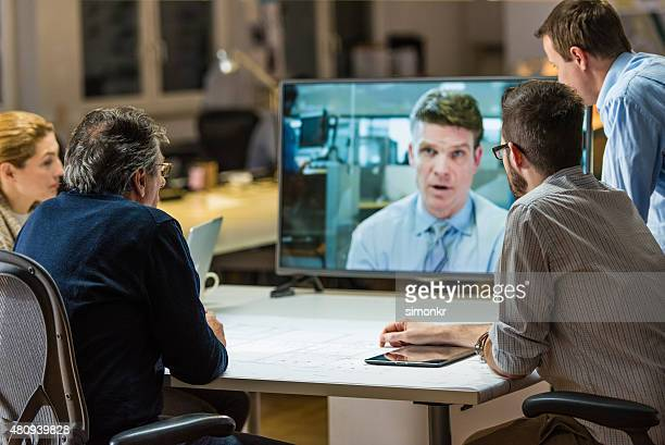 Architects in video conference