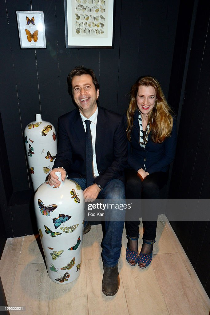 Architects Jerdi Veciana and Skye Maunsell from Studio Castel Veciana attend the '9 Hotel' Opening Party on January 10, 2013 in Paris, France.