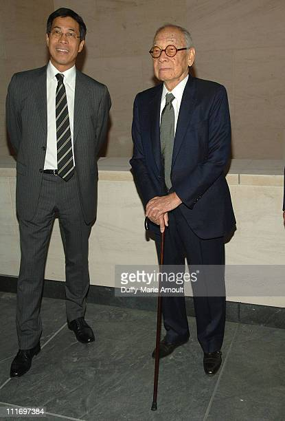 Architects Li Chung Pei and I M Pei attend Soiree Au Louvre 2009 at The Centurion on May 20 2009 in New York City