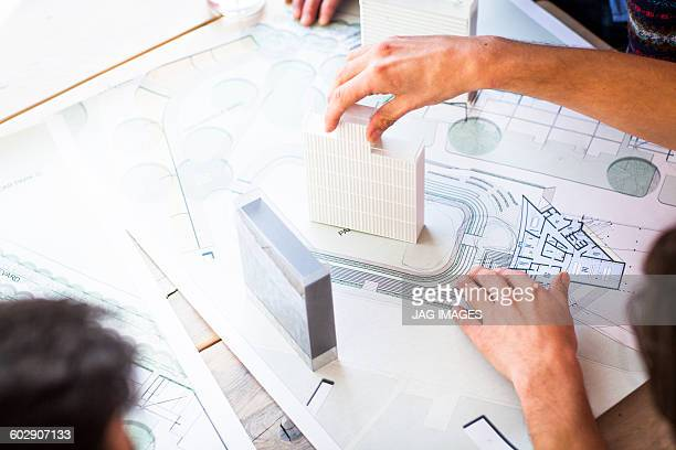 architects looking at architects drawings - 建築家 ストックフォトと画像