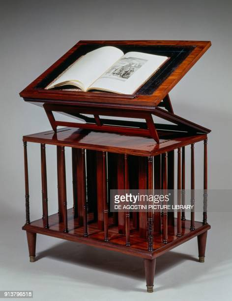 Architect's table with doubleinclined plane in Louis XVI style striated mahogany wood marked by G Jacob France 17th18th century