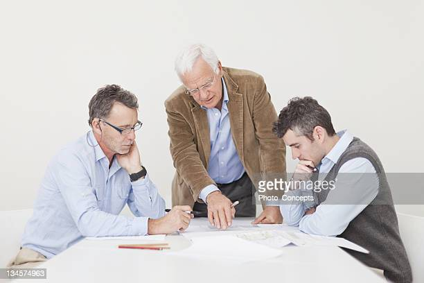Architects talking in meeting