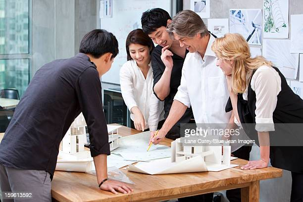 Architects working in studio