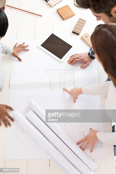 Architects working on a building project