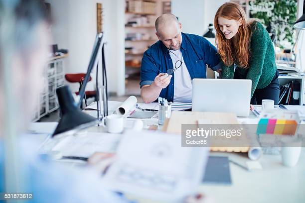 architects working on project - scandinavian descent stock pictures, royalty-free photos & images