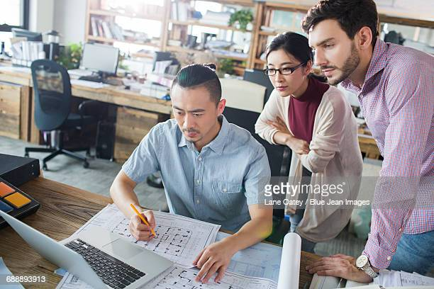 Architects working together in the office