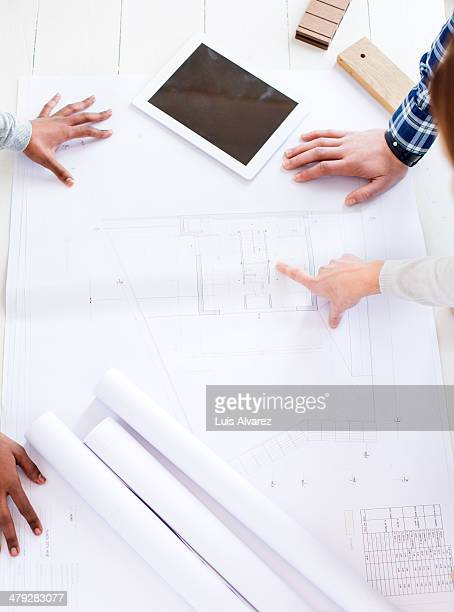 Architects working together