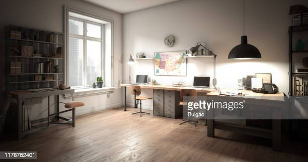 architect's workplace - angle poise lamp stock pictures, royalty-free photos & images