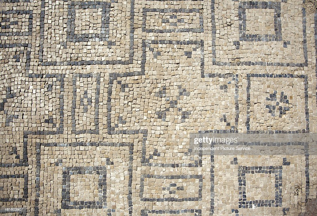 Architectural Artifacts Showing The Pattern And Design Roman Bath At