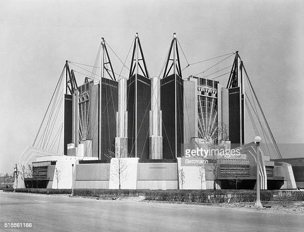 Architectural Beauty at Chicago's 1933 World's Fair Chicago Illinois Larger than the dome of St Peter's or the Washington Capitol this skyhung dome...