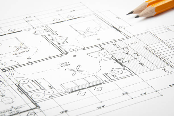 Free architectural sketch images pictures and royalty free stock architectural blueprints and blueprint rolls with drawing instruments malvernweather Gallery