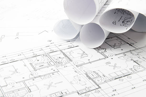 Free architecture paper images pictures and royalty free stock architectural blueprints and blueprint rolls with drawing instruments malvernweather Gallery