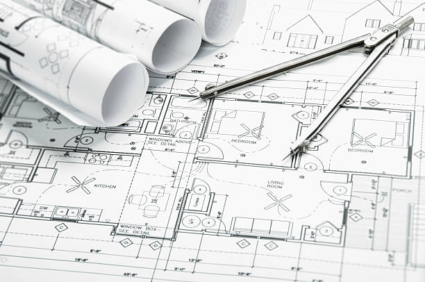 Free architecture draw images pictures and royalty free stock architectural blueprints and blueprint rolls with drawing instruments malvernweather Image collections
