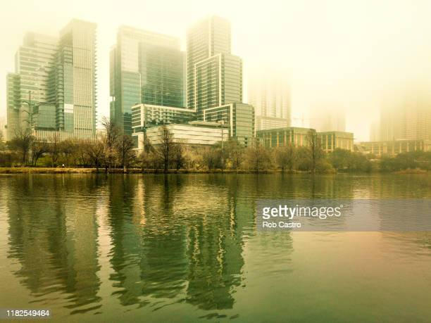 architectural buildings in austin along lady bird river - rob castro stock pictures, royalty-free photos & images