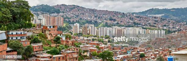 architectural chaos in poverty zones - caracas stock pictures, royalty-free photos & images