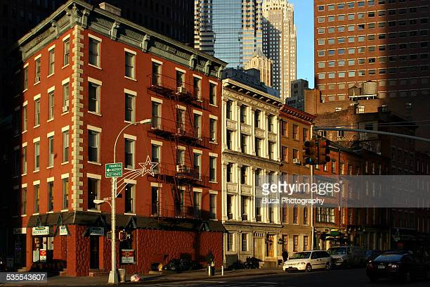 Architectural contrasts in Lower Manhattan