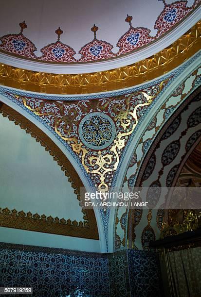 Architectural decoration in the Imperial Council Hall Topkapi Palace Istanbul Turchia Turkey 15th16th century Istanbul Topkapi Sarayi Muzesi