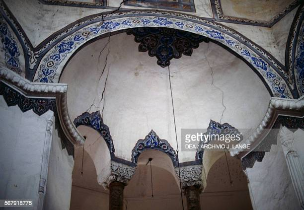 Architectural decorations in the former Church of the Saints Sergius and Bacchus converted into the Kucuk Ayasofya Camii mosque in the 16th century...