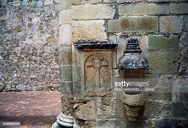 Architectural decorations in the monastery of Santiago Apostol Cuilapan Oaxaca Mexico 16th century