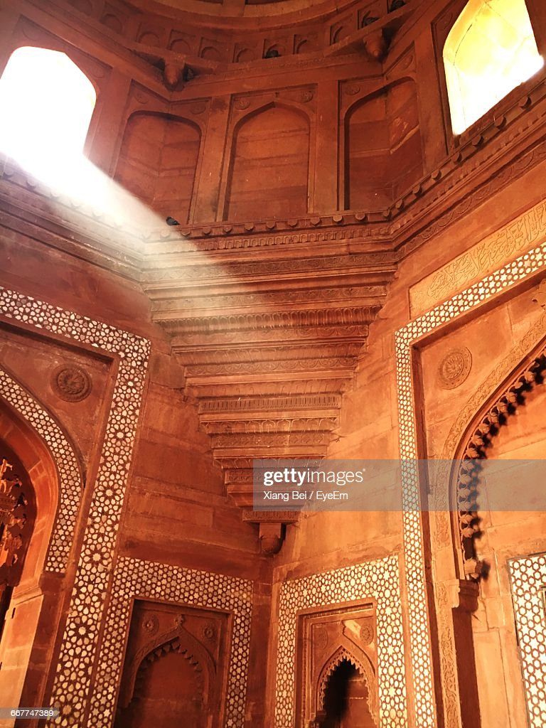 Architectural Detail At Agra Jama Masjid Mosque : Stock Photo