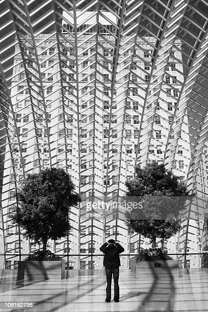 Architectural detail - glass roof of Kimmel Center in Philadelphia