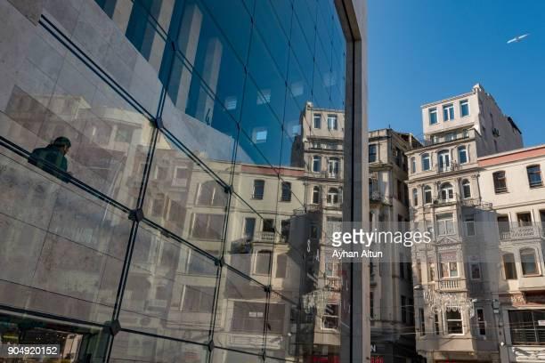 Architectural detail in Istiklal Street,Beyoglu,Istanbul,Turkey