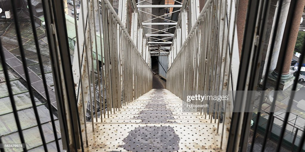 Architectural detail of a staircase : Stock Photo