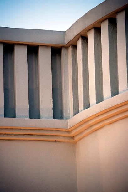 Architectural detail of Art Deco building