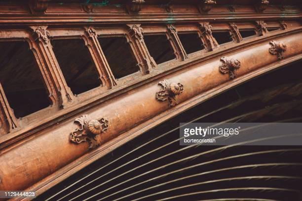 architectural detail of bridge - bortes stock-fotos und bilder