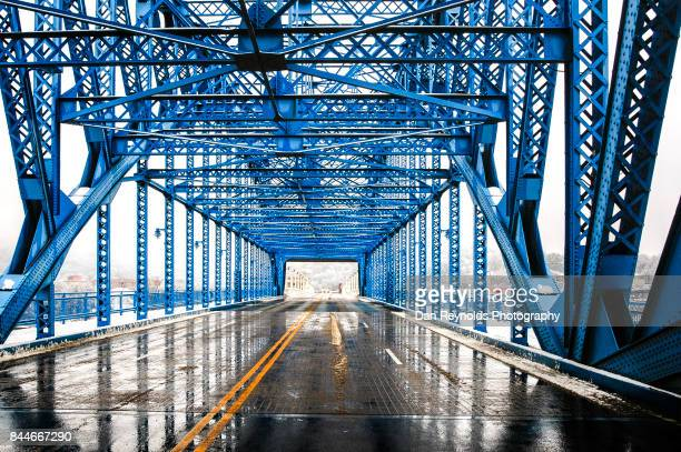 Architectural Detail of bridge with reflection