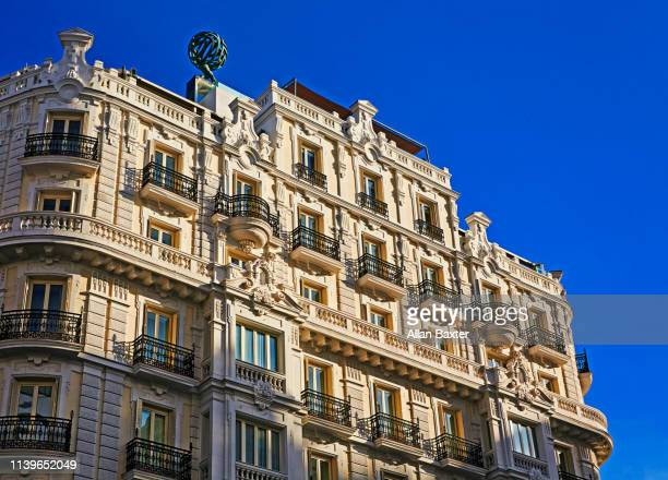 Architectural detail of classic architecture along Gran Via