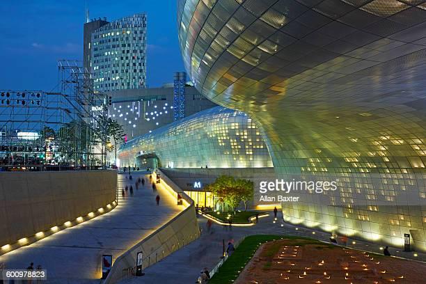 Architectural detail of Dongdaemun Design Plaza