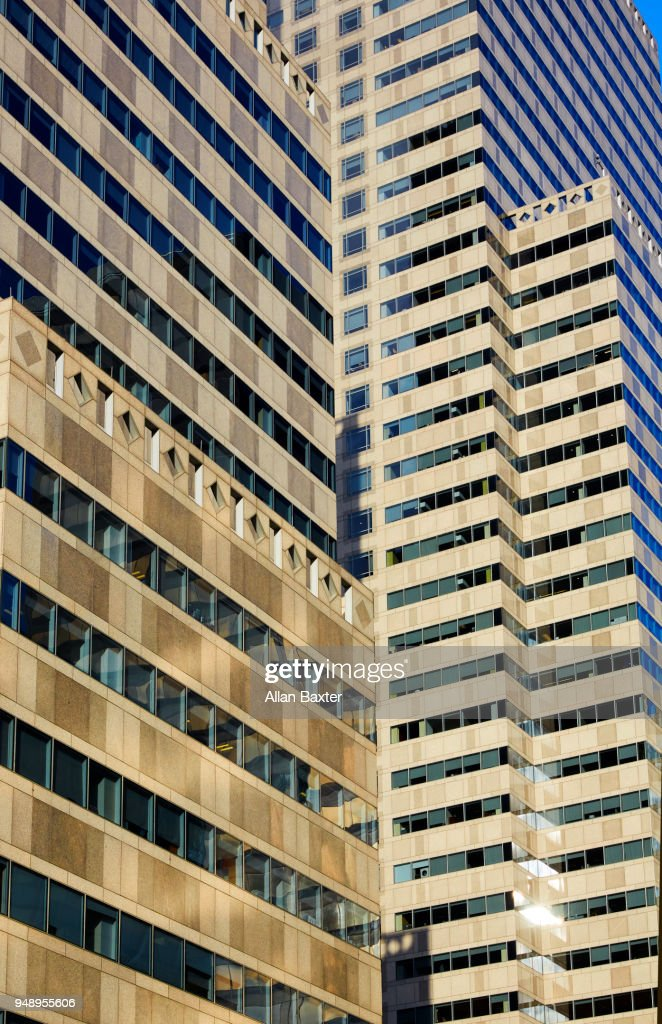 Architectural detail of office block in downtown Philadelphia : Stock Photo