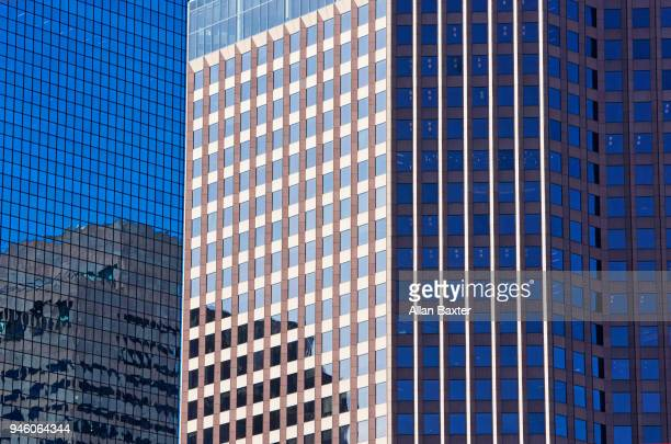 Architectural detail of offices in downtown Boston